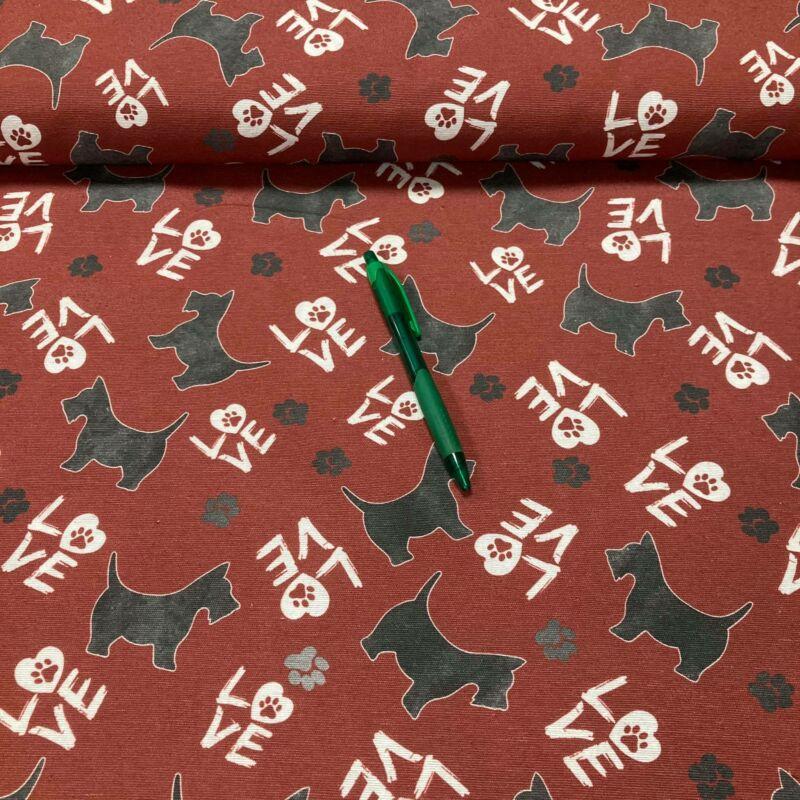 skót terrier mintás loneta vászon