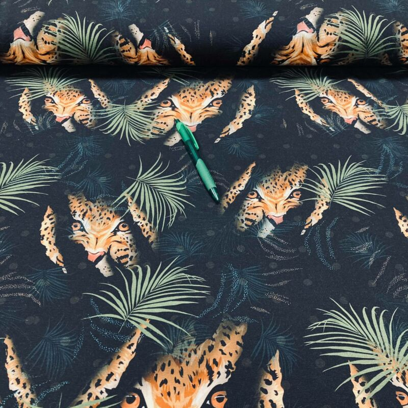leopárd mintás pamutdzsörzé