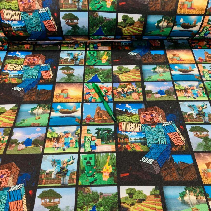 Minecrafthoz hasonló  mintás futter szabadidő anyag