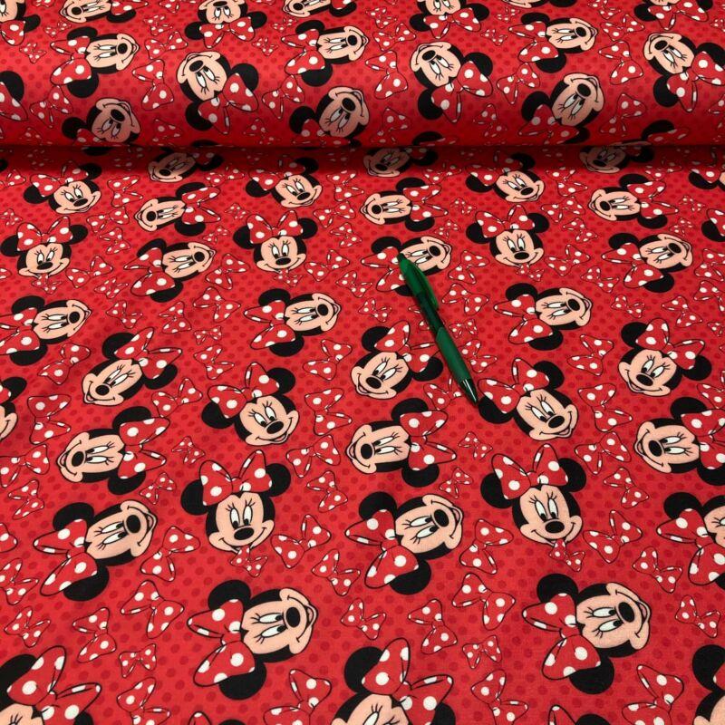 Minnie egér mintás kevert futter szabadidő anyag