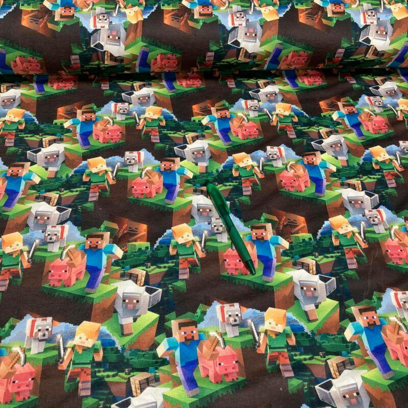 minecraft mintás kevert szálas futter
