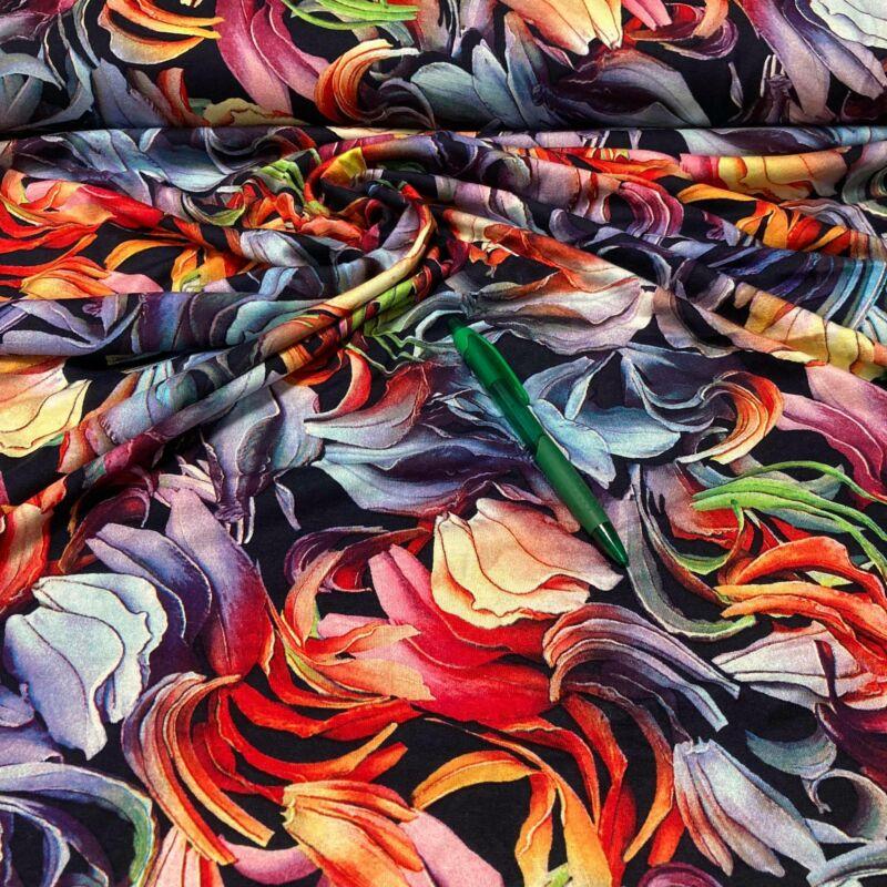 színes viszkóz pólóanyag