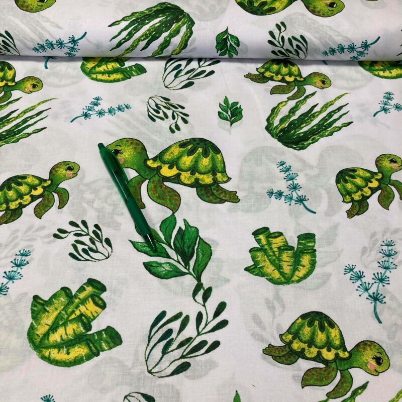 teknős mintás pamut karton