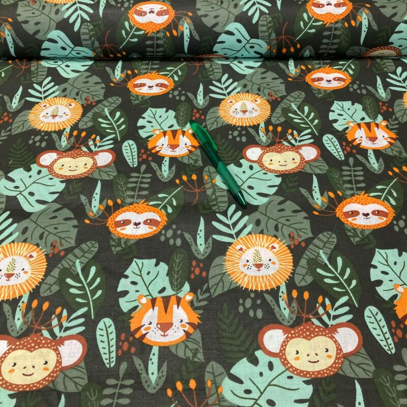 dzsungel mintás pamut karton