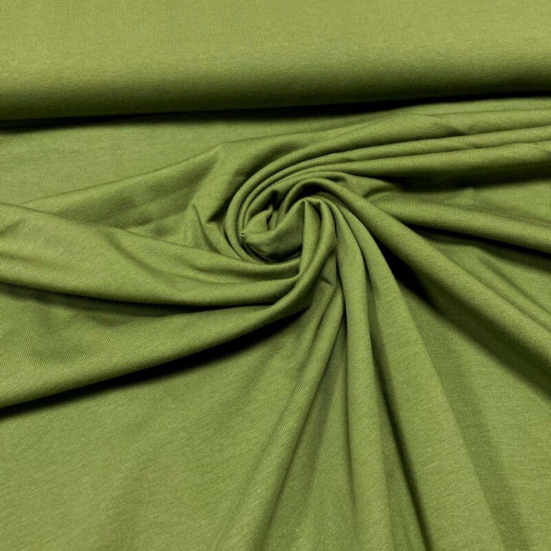 sötétebb pisztácia zöld pamutdzsörzé