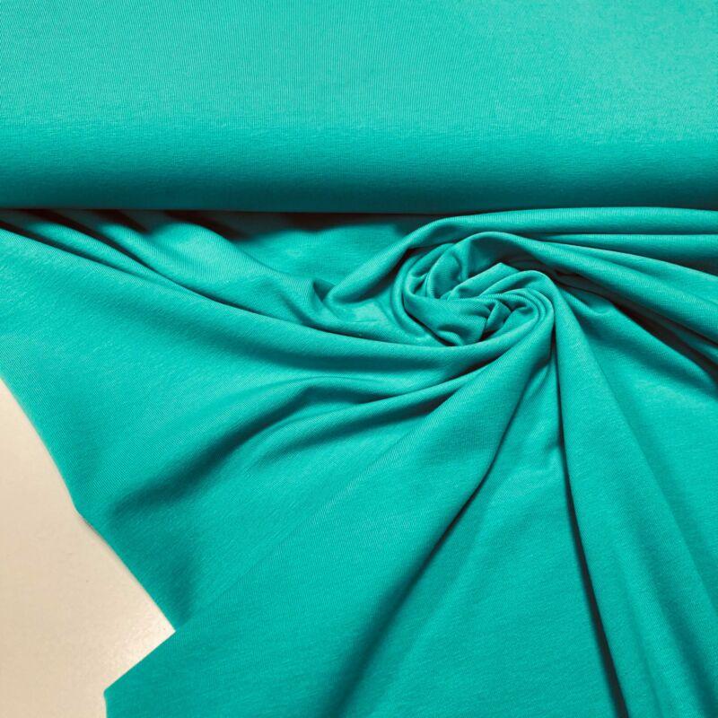 türkizzöld színű pamutdzsörzé