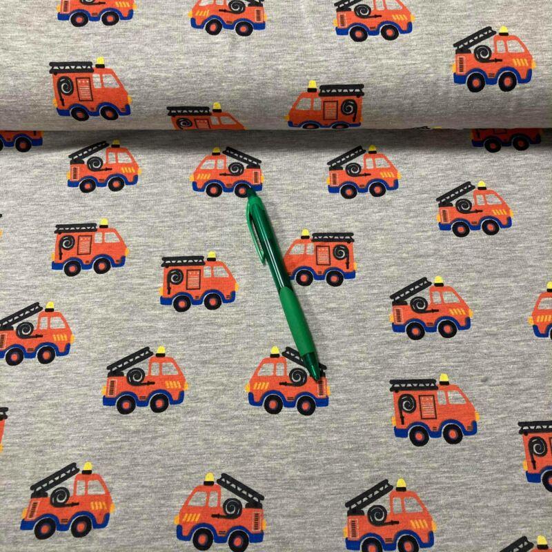 tűzoltó mintás holland pólóanyag
