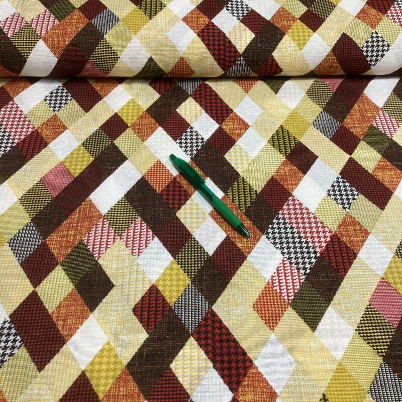 színes kocka mintás loneta vászon