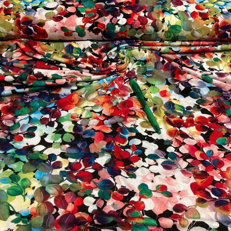 színes mintás viszkóz pólóanyag