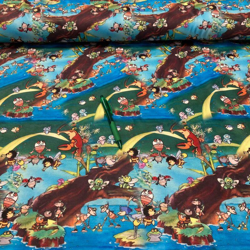 vízipók csodapók mintás kevert szálas pólóanyag