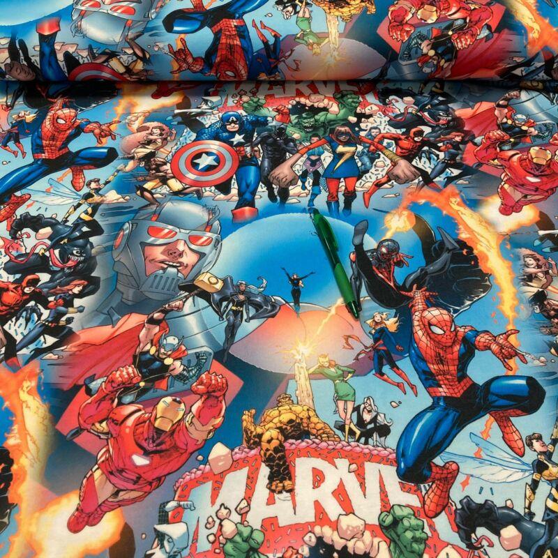 Marvel mintás kevert futter szabadidő anyag