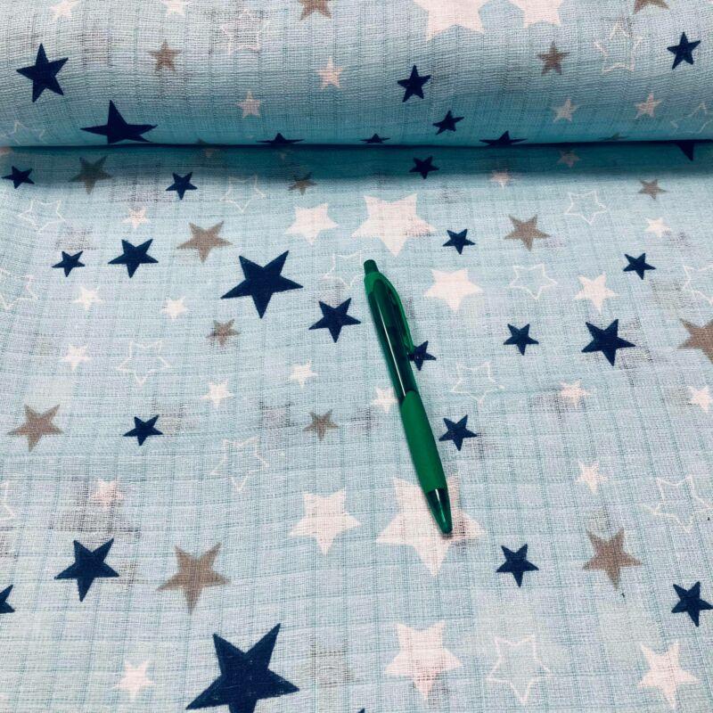 kék alapon csillag mintás pelenka anyag