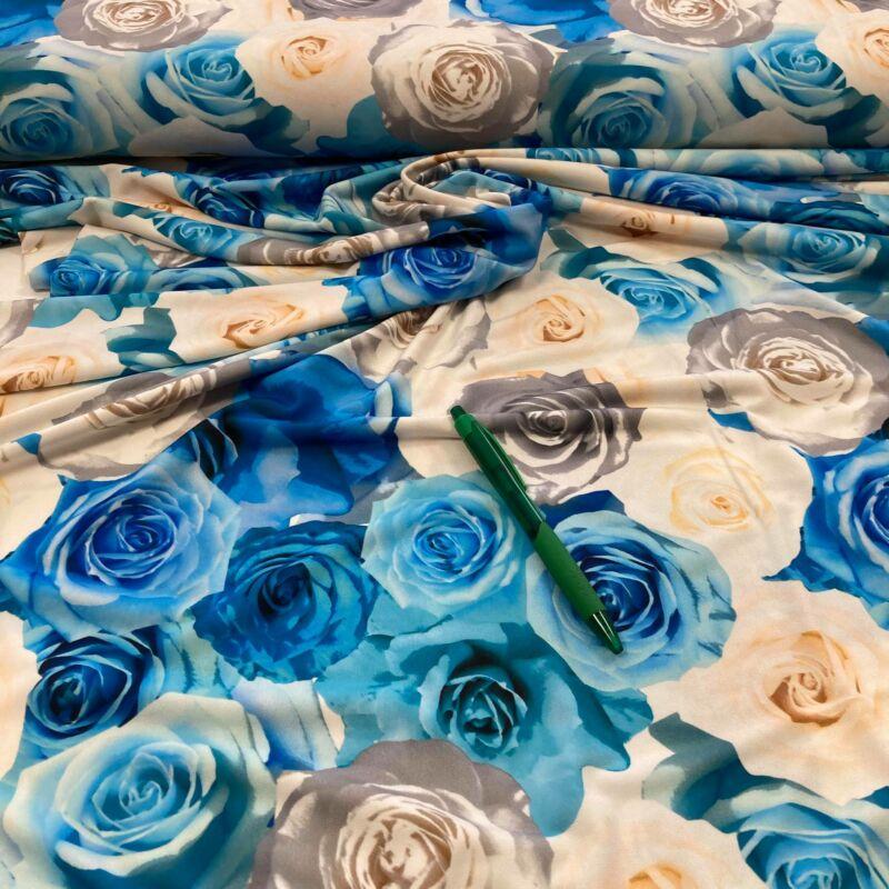 kék rózsa mintás jégdzsörzé