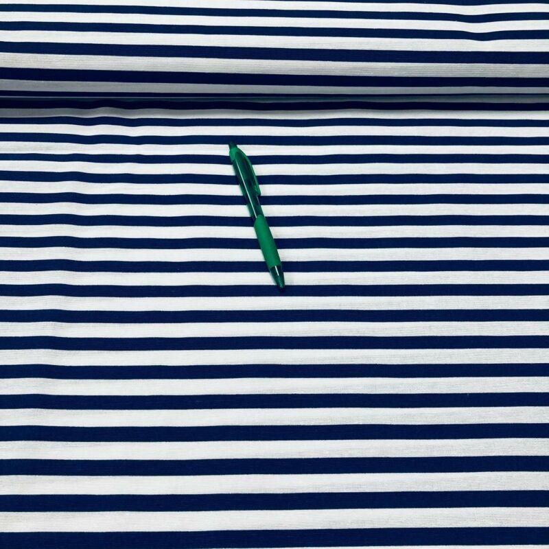 sötétkék-fehér csíkos loneta vászon