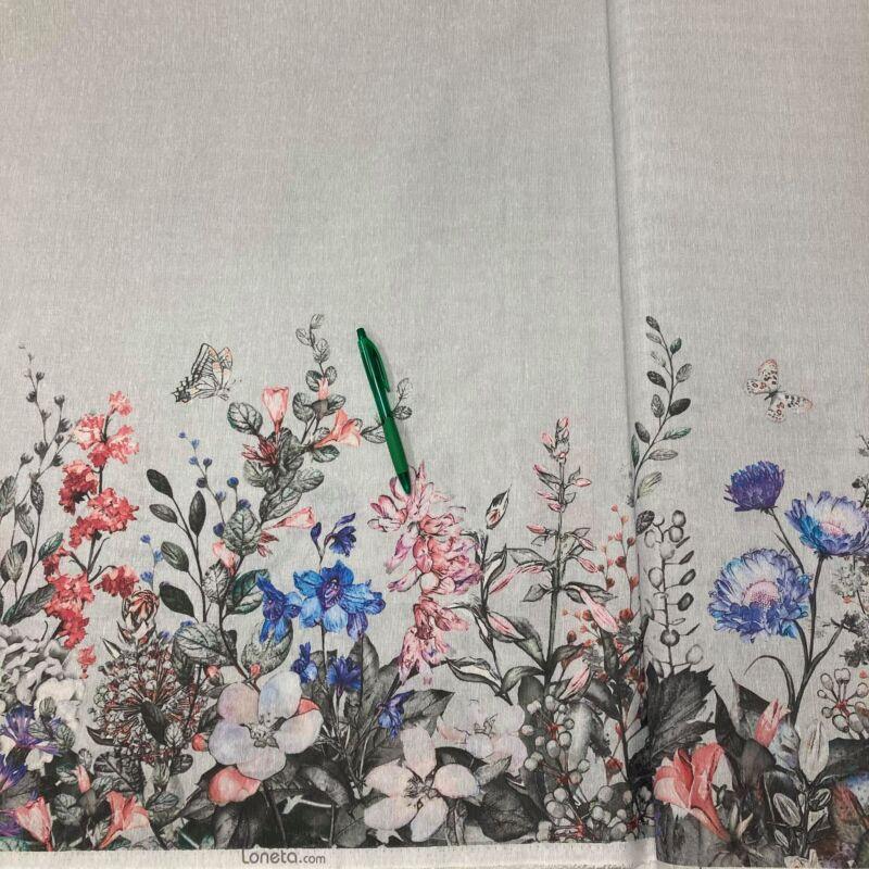 virág mintás bordűrös loneta vászon