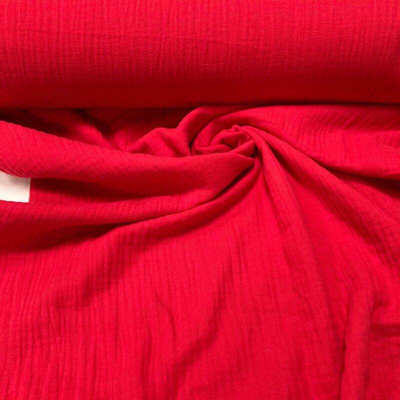 piros duplafalú géz anyag