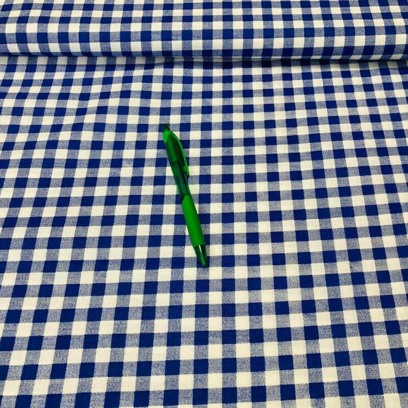 kék kockás pamut karton
