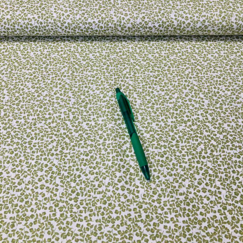 apró zöld virág mintás pamut karton
