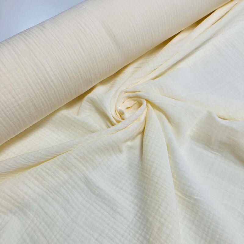 vanília színű duplafalú géz anyag
