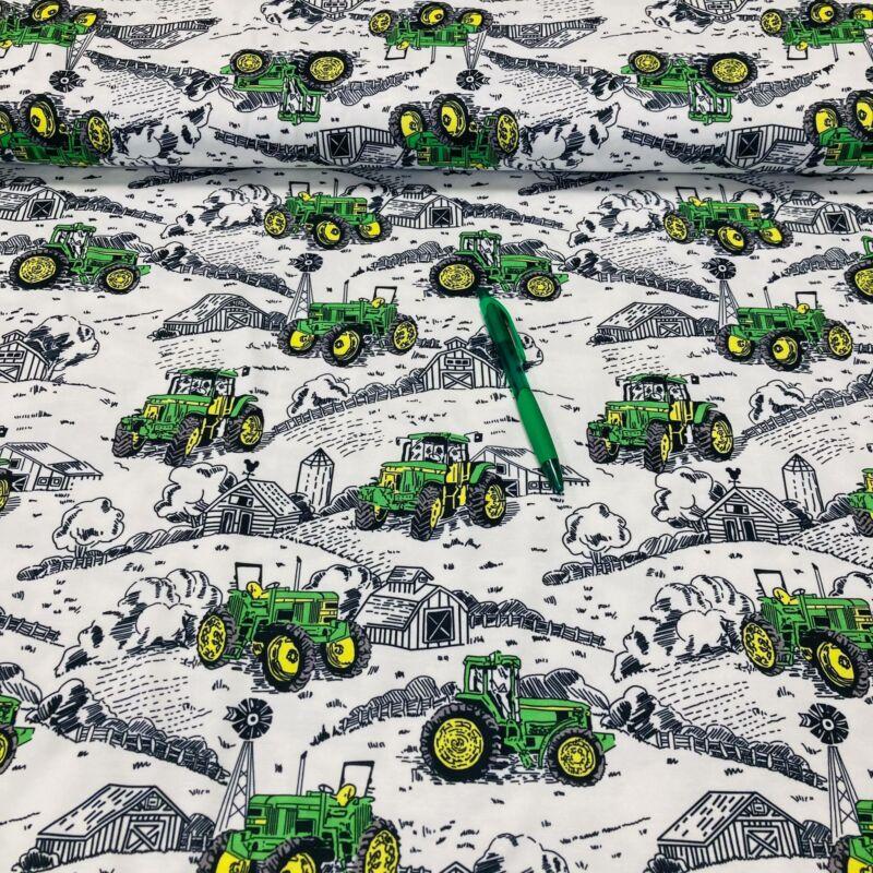 traktor mintás kevert szálas póló anyag