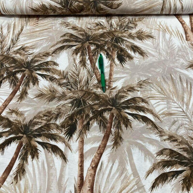 barna pálmafa mintás loneta vászon