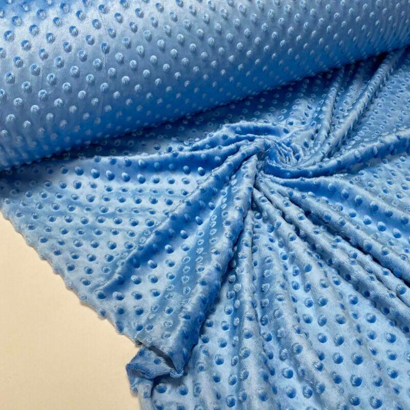 kék színű minky anyag