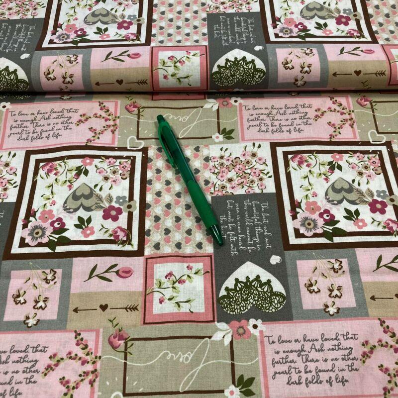 """romantikus"" mintázatú pamut karton"
