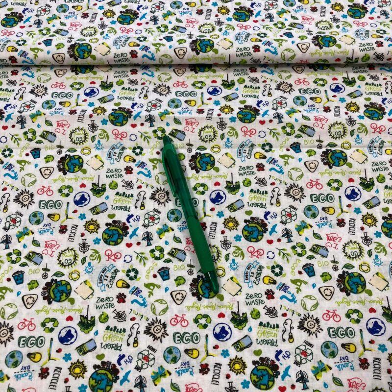green world mintás pamut karton