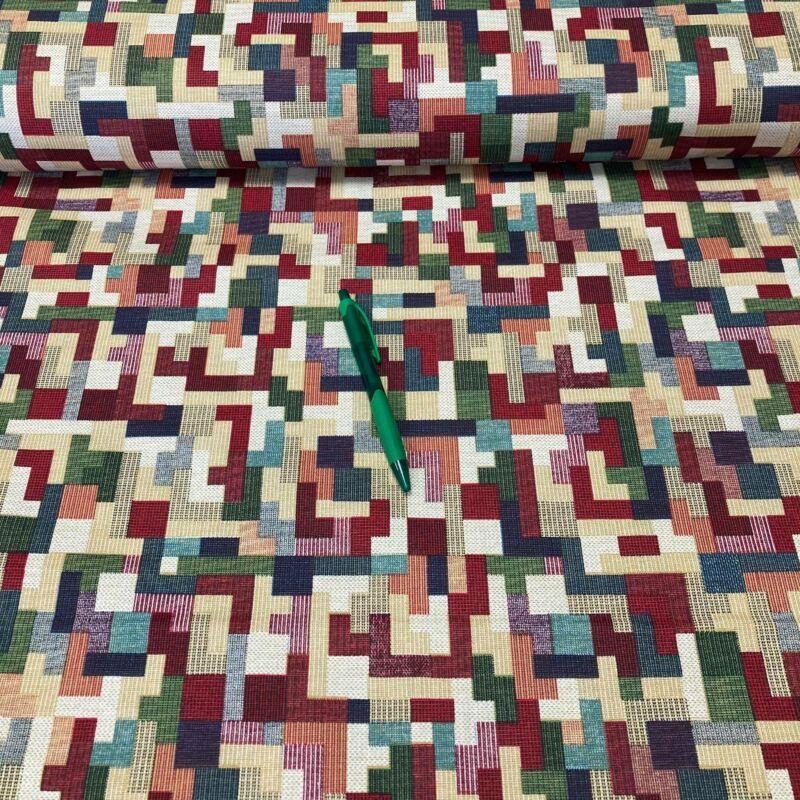 színes mintás lakástextil