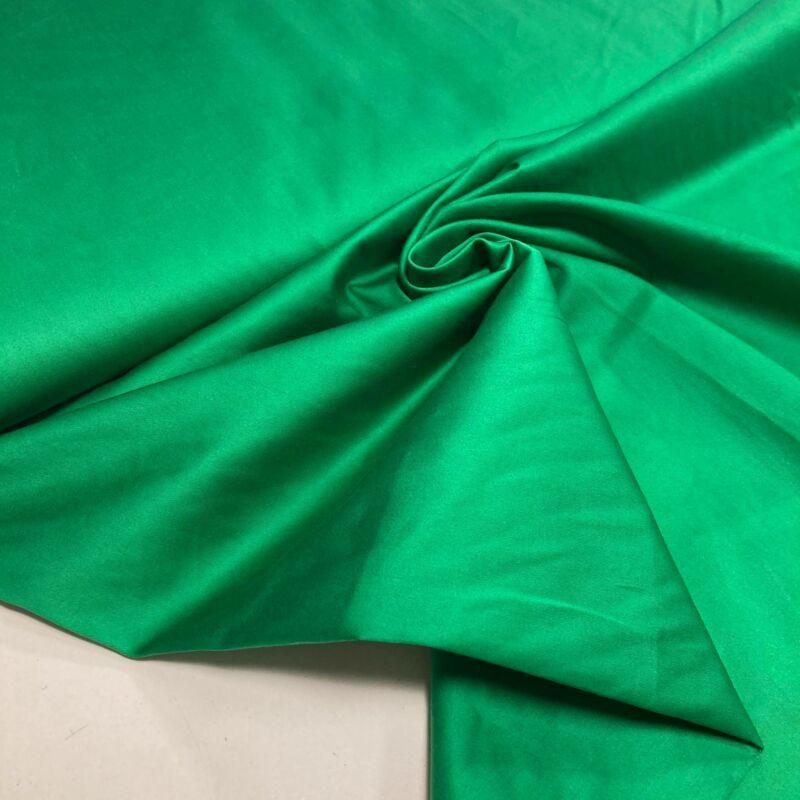 zászlózöld színű sztreccs frézia, vászon