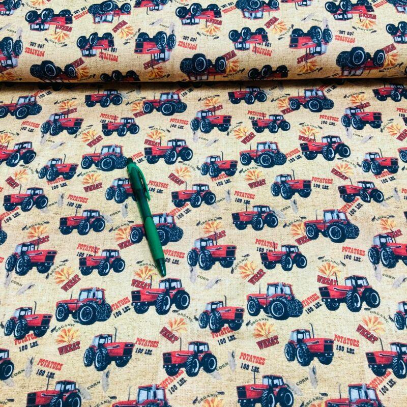 krém alapon traktor mintás kevert szálas futter