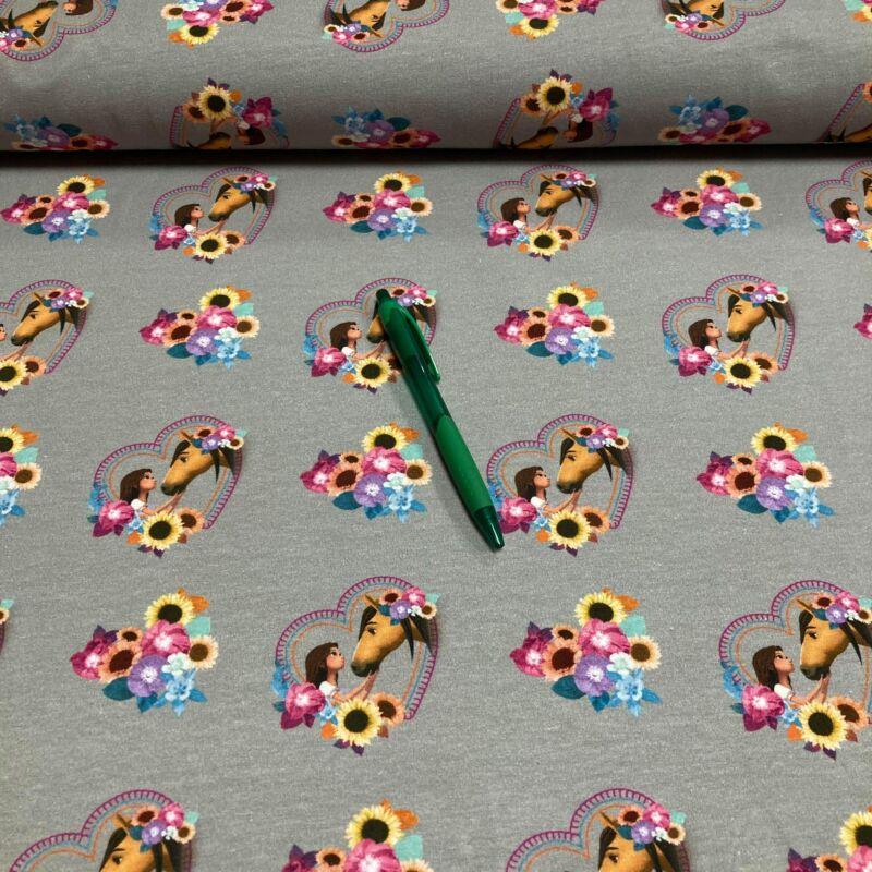 szürke alapon szilaj mintás holland pólóanyag